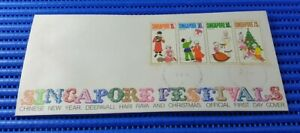 1971-Singapore-First-Day-Cover-Singapore-Festivals-Commemorative-Stamp-Issue