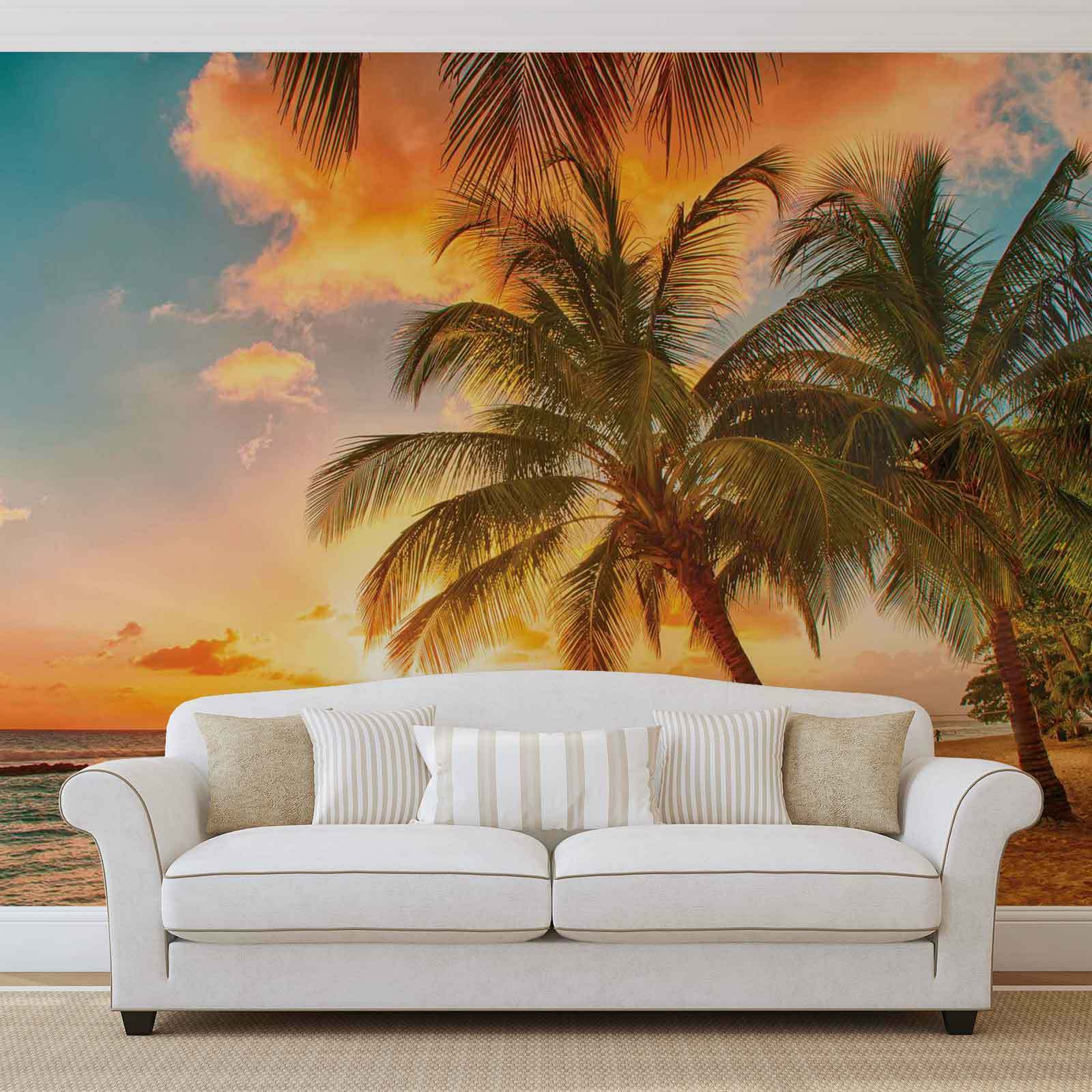 WALL MURAL PHOTO WALLPAPER XXL Palmtrees At The Beach (3393WS)