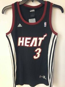 Adidas Women s NBA Jersey MIAMI Heat Dwayne Wade Black sz S  80449a75e