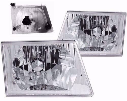 New Chrome Headlight PAIR FOR 1996 1997 1998 1999 2000 Fleetwood Pace Arrow