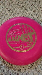 Discraft-Four-chain-Magnet-167-169-gram-RED-OOP-Stamp-very-stiff-golf-disc