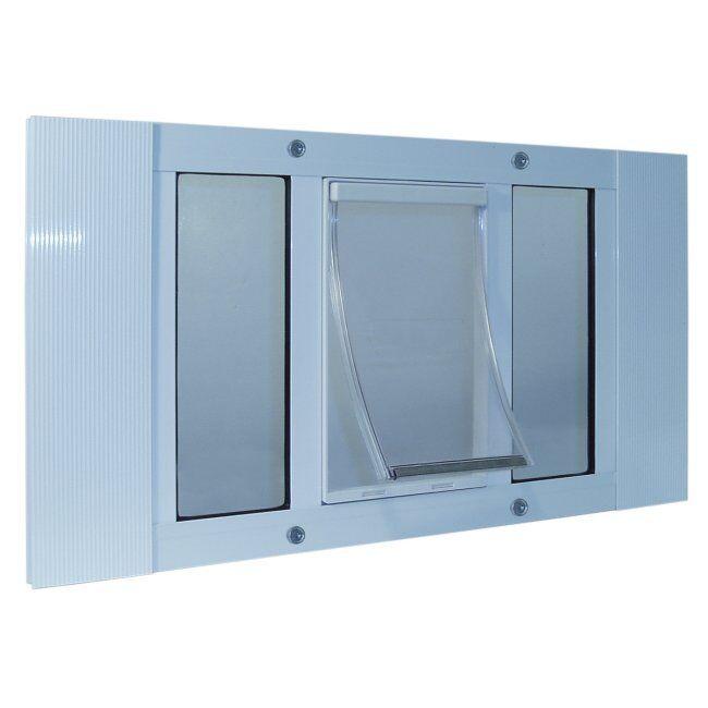Aluminum Sash Window Pet Door  33-38 Inches
