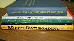 Lot-of-5-GREENBERG-Model-Lionel-Trains-Railroading-BOOKS-Repair-Operating