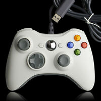New Wired USB Game Pad Joypad Controller For Microsoft Xbox 360 Slim PC White US