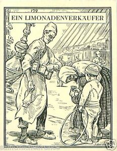 Lemonade-seller-Turkey-Bulgaria-Greece-TOBACCO-HISTORY-HISTOIRE-TABAC-CARD-30s
