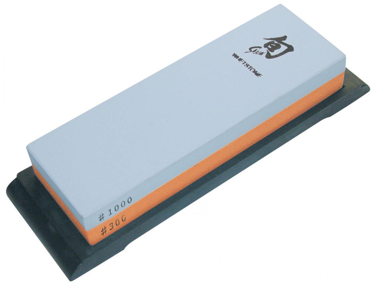 KAI DM-0708 Kombinations Schleifstein Wetzstein Körnung 300 1000 Halterung