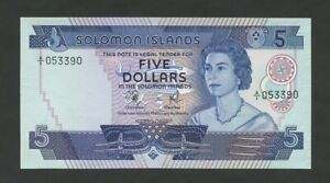 SOLOMON-ISLANDS-QEII-5-1977-P6a-Uncirculated-World-Paper-Money