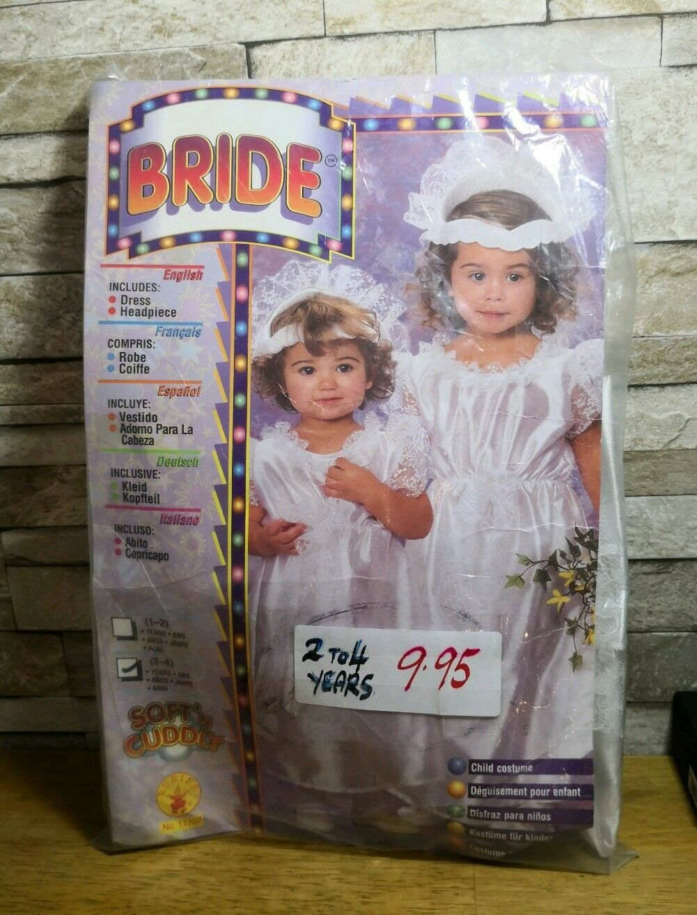 CHILD BRIDE FANCY DRESS COSTUME AGE 2-4 YEARS BRAND NEW IN PACKET