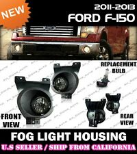 11 12 13 FORD F150 F-150 Replacement Fog Light Driving Lamp Lense Housing (PAIR)