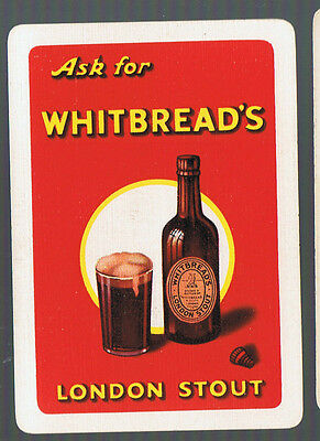 Swap Playing Cards 1 VINT WIDE ENG WHITBREADS  STOUT   BEER //BREWERY ADVT  VD135