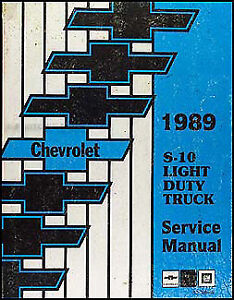 1989 Chevrolet S 10 Repair Shop Manual Pickup Truck S10 Blazer Original Service Auto Parts & Accessories Car & Truck Service & Repair Manuals