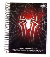 Marvel Spider-man Boys Hardcover Spiral 320 Sheet 16 Subject Notebook W/stickers