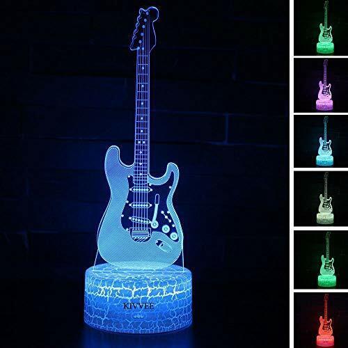 Visual 3D lamp Electric Guitar Musical Instruments Illusion Electric Guitar