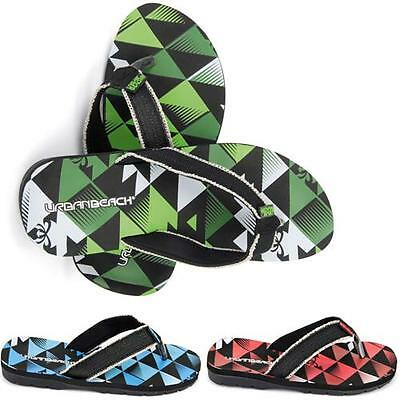 Nuevo Para Hombre Caballeros Urban vacaciones de playa Gym ducha Flip Flop Chinelas Sandalias Talla 6-12
