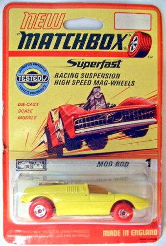MATCHBOX SF Nº 1b MOD ROD Rouge Rouge Rouge Roues RARE 1970 étui. | Réputation D'abord  972821