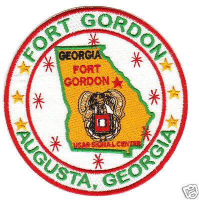 US ARMY POST PATCH,FORT GORDON, AUGUSTA, GEORGIA, USAR SIGNAL CENTER           Y