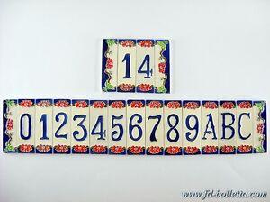 Numeri Civici In Ceramica.Dettagli Su Numeri Civici In Ceramica Numero Civico Ceramica Piastrelle Ceramica Fiore Nfp