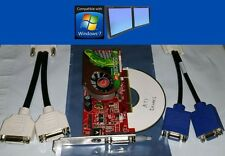 New Visiontek ATI Radeon X1300 256MB Dual DVI VGA Windows7 PCI Video Card + Cbl