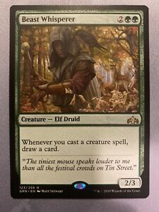 FOIL Rare Guilds of Ravnica Beast Whisperer Magic//mtg