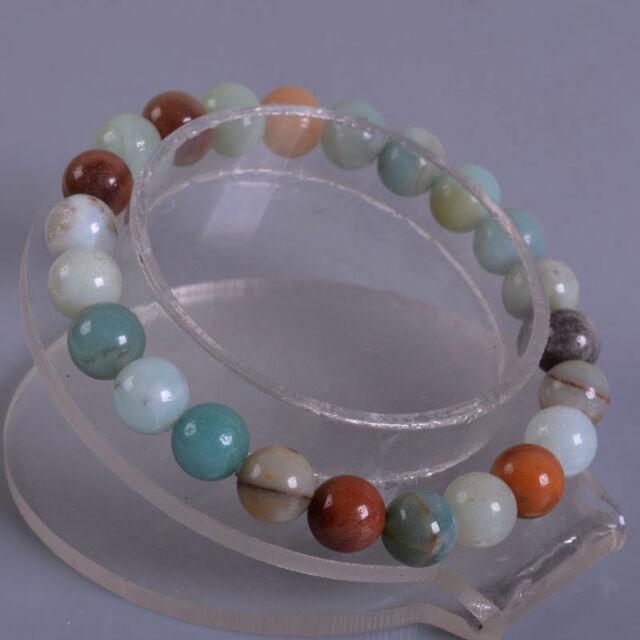 """8mm Fashion round gemstone beads stretchable bracelet 7"""""""