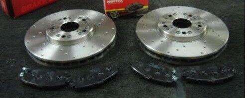 LEXUS IS200 Cruz Perforado Discos De Freno Perforados /& Mintex Almohadillas Delantero
