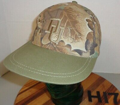 CAMO/GREEN DUCKS UNLIMITED HAT STRAPBACK ADJUSTABLE ...