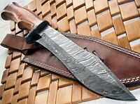 Reg-215 - Handmade Damascus Steel 14.00 Inches Bowie Knife - Exotic Wood Handle, on sale