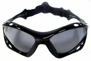 SeaSpecs Polarized Jet Black Water Sport Sunglasses FREE CASE!