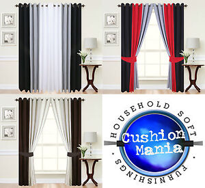 Image Is Loading Curtains Eyelet Ring Top Lined Fully Ready Made
