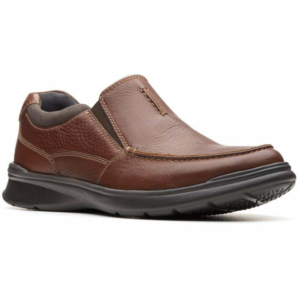 Clarks Cotrell Free Slip-on Shoes - UK8.5 (EU42.5 / US9.5) in Brown Leather