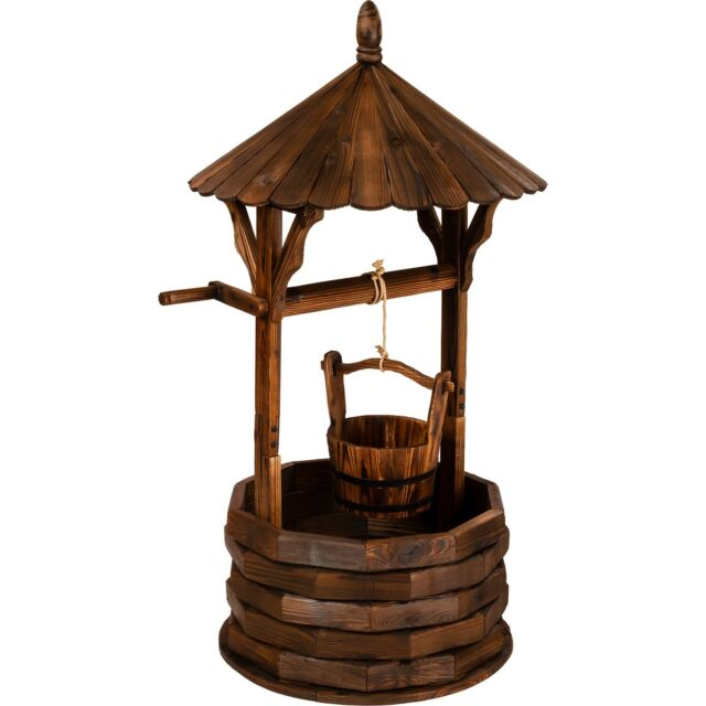 Gartenbrunnen Brunnen Holz Zierbrunnen Holzbrunnen Günstig Kaufen Ebay