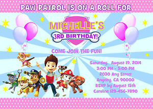 image regarding Paw Patrol Printable Birthday named Information and facts in excess of PAW PATROL Tailor made PRINTABLE BIRTHDAY Occasion INVITATION Free of charge THANK U CARD