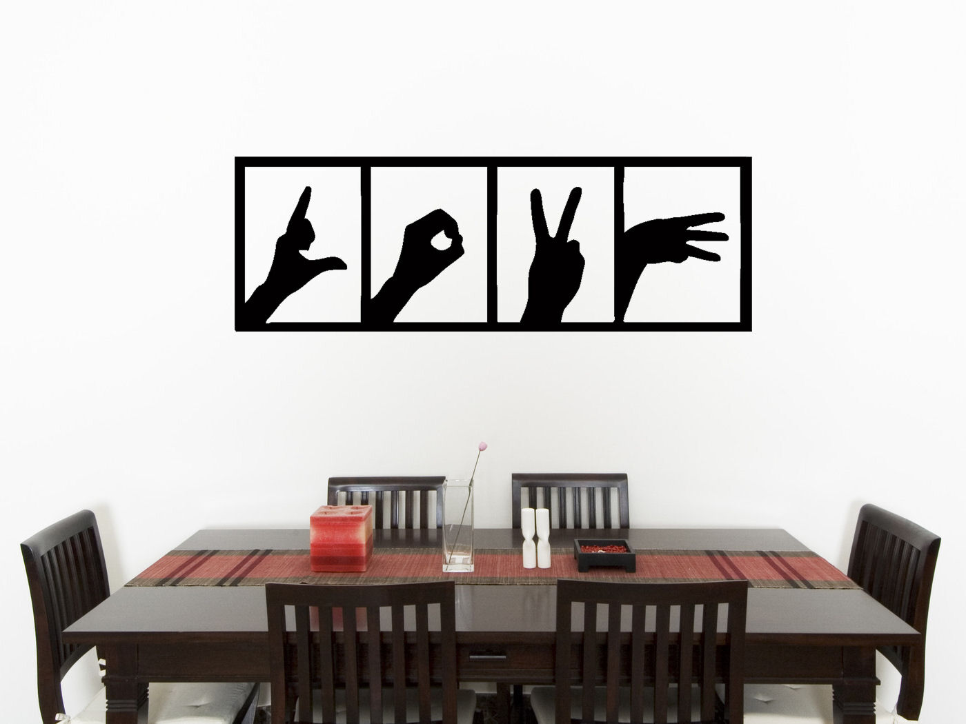 Amour MAINS SIGNE chambre vivant Cuisine Autocollant Art mur image