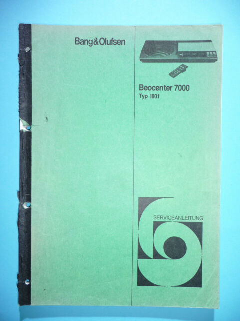 Service Manual For Bang  U0026 Olufsen Beocenter 7000  1801