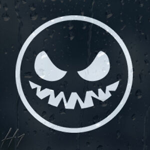 Funny-Halloween-Smiley-Ghost-Car-Or-Wall-Decal-Vinyl-Sticker
