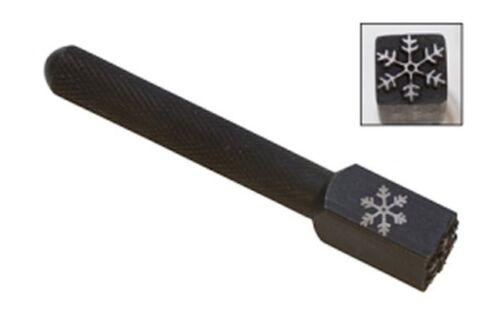 Large Elite Metal Design Stamp 10mm Snow Flake