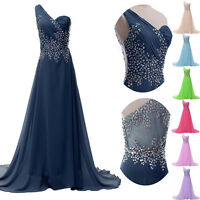 Beaded Long Mother Of The Bride Dress Evening Wedding Party Bridesmaid Dresses