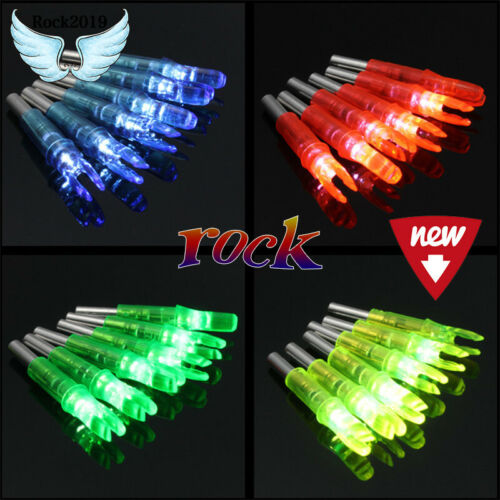 3pcs 6.2mm Hunting Shooting Archery Led Lighted Nock Compound Bow Arrow Nocks