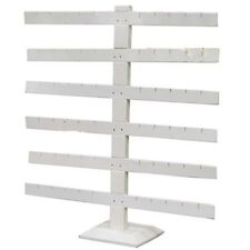 6 Tier 6 Bar White Earring Display Stand 14 18 Wide X 15 18 Tall
