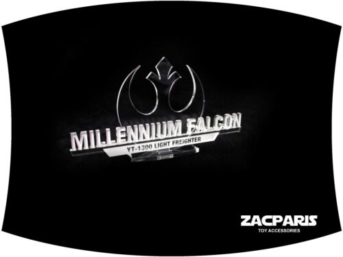 3D DISPLAY PLAQUE for Star wars Millennium Falcon Models Lego 7965 75105 10179