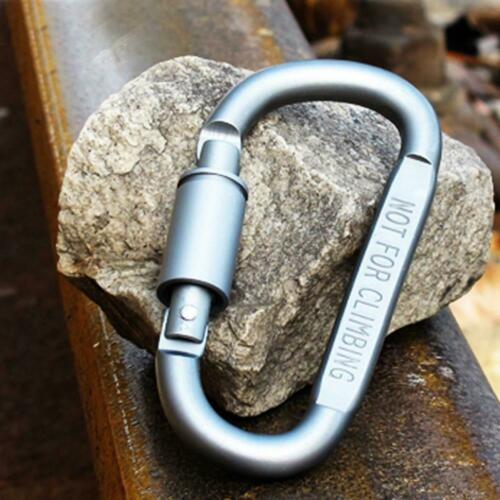 6pcs Multifunction Carabiner Outdoor Aluminum Alloy D-ring Climbing Buckle #K