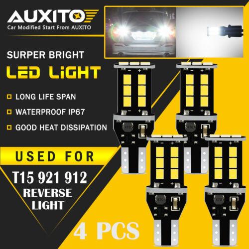 4X New White LED Bulb Car Backup Reverse Light 912 921 T15 W16W Lamps ERROR FREE