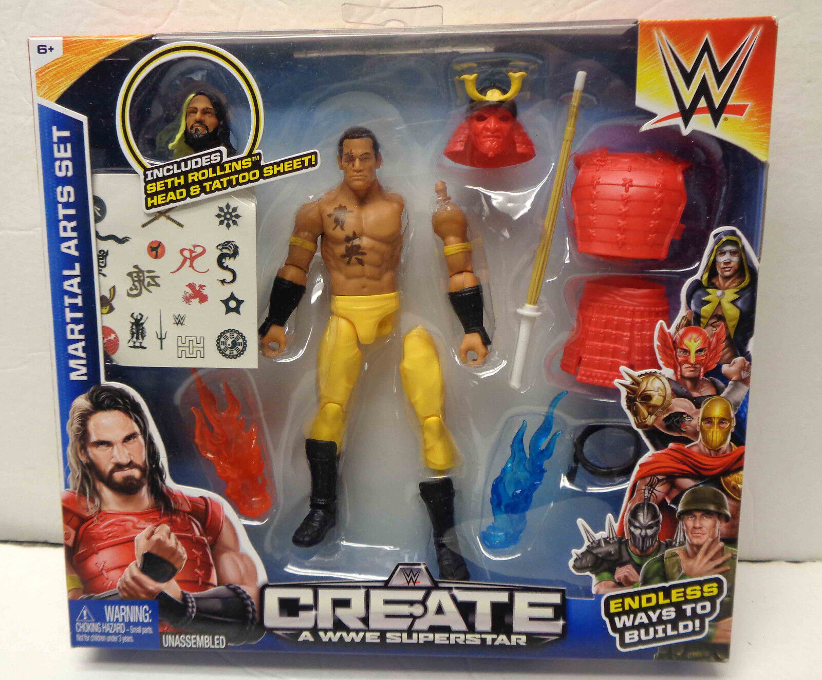 Mattel WWE Create A WWE Superstar - Martial Arts Set  NEW  RARE