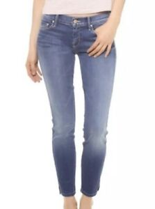 12de424ea54 NEW Mother Denim The Vamp Skinny Ankle Slit Jeans Spiked Heels ...