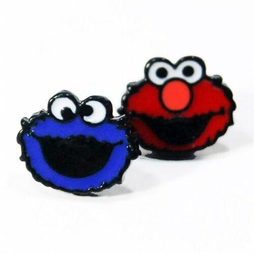 1PCS Sesame Street Elmo Big Bird Anime Cartoon Boucle d/'oreille Clous d/'oreilles