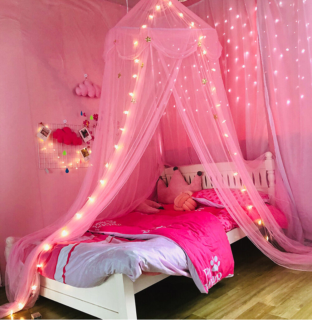 - Star Bed Canopy Lace Mosquito Net For Girls Boys Adults Bed