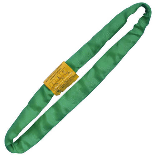 Endless Round Lifting Sling Heavy Duty Polyester Green 8'