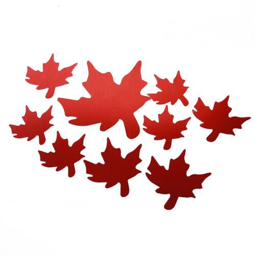 Autocollant Maple Leaf Pattern Acrylique Miroir surface de bureau Decor Decal Autocollant Lin