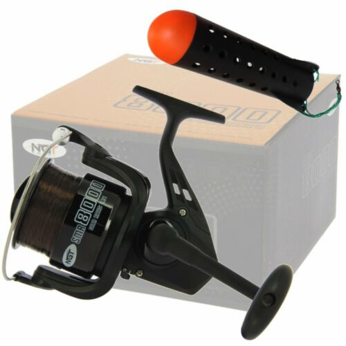 Marker Fishing Reel NGT SMR 8000 and a Spod Long Cast with 18Lb Line Spod