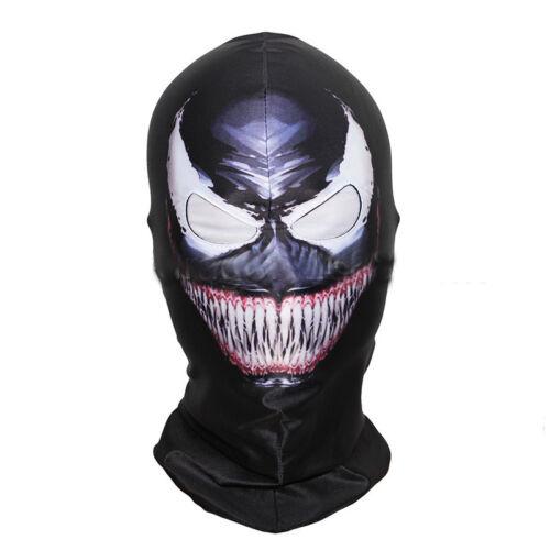 Superhero Face Amazing Scary Mask Balaclava Hood Cosplay Venom Halloween Props